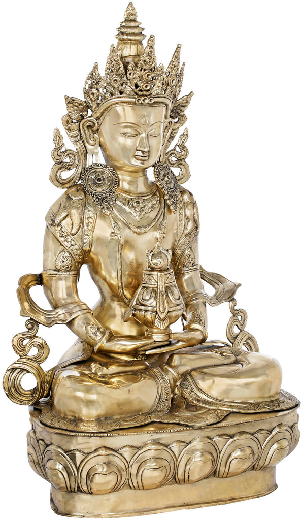 Large Size Amitabha Buddha with The Vase of Immortality - Tibetan Buddhist