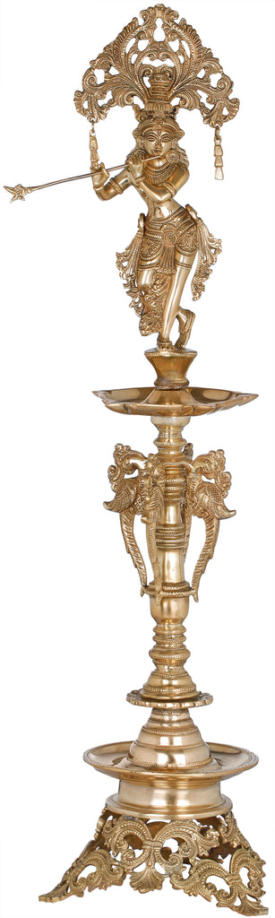 Large Lord Krishna Lamp