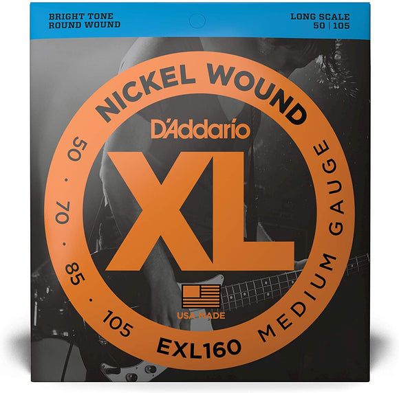 D'Addario XL Nickel Wound Bass Strings LONG SCALE