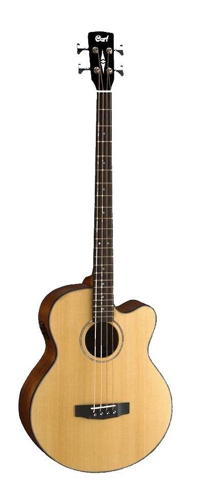 Cort Jumbo Acoustic Bass Guitar w EQ & Gig Bag AB850F-BAG-NAT