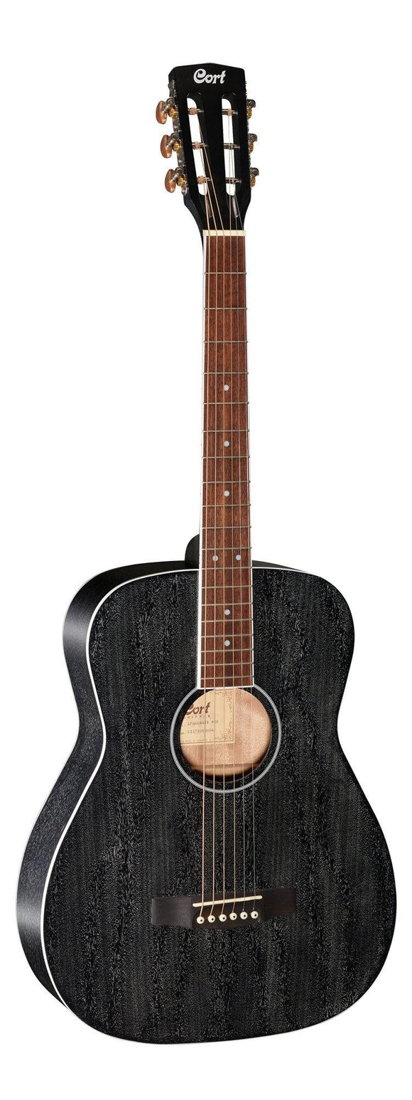 Cort Standard Series Mahogany Body Acoustic Guitar, Black Open Pore