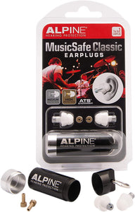 Alpine Hearing Protection MusicSafe Classic Earplugs for Musicians