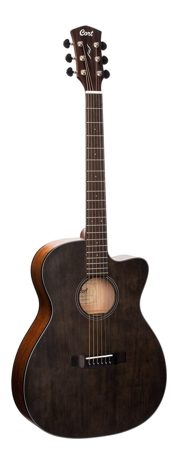 Cort Core Series Spuce Acoustic Guitar w/Case, Open Pore Trans Black