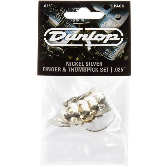 Dunlop Metal Finger Picks & Thumb Pick (5-Pack)