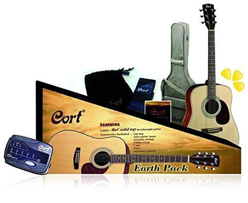 Cort Guitars Acoustic Dreadnought Guitar Pack EARTH-PACK-OP