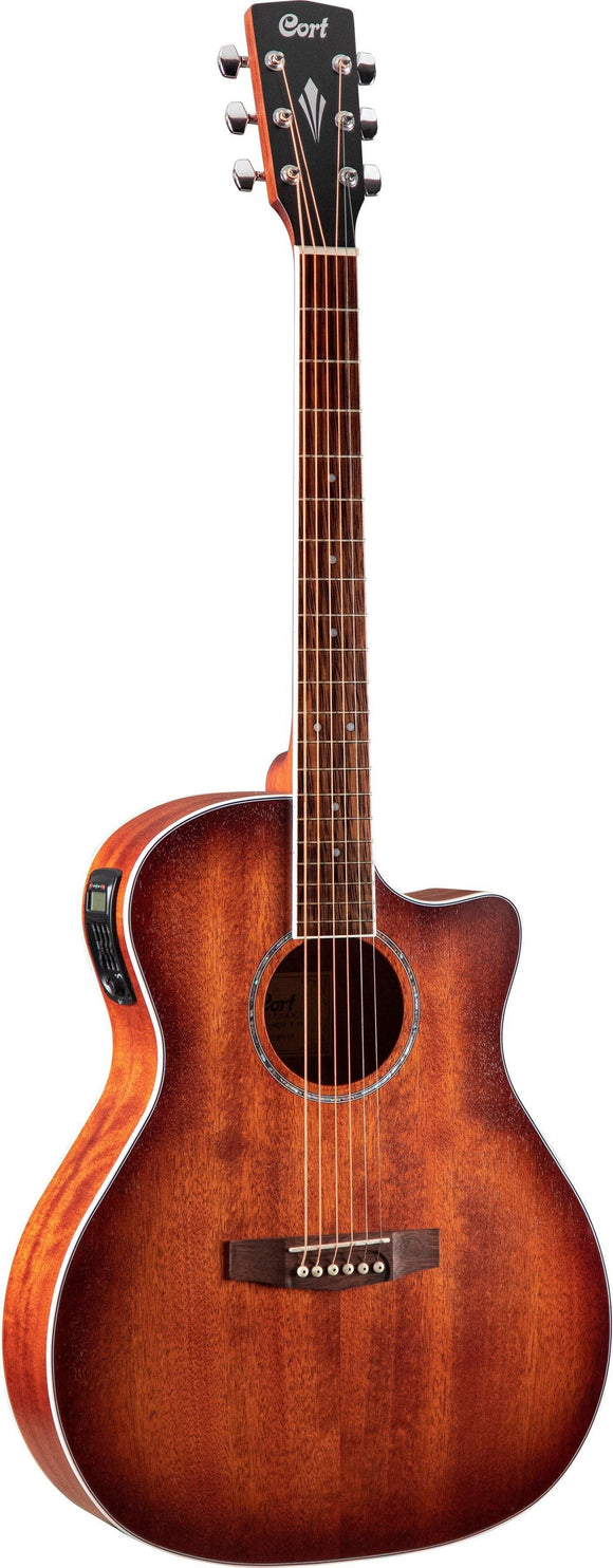 Cort Grand Regal Series Mahogany Acoustic Guitar, Open Pore