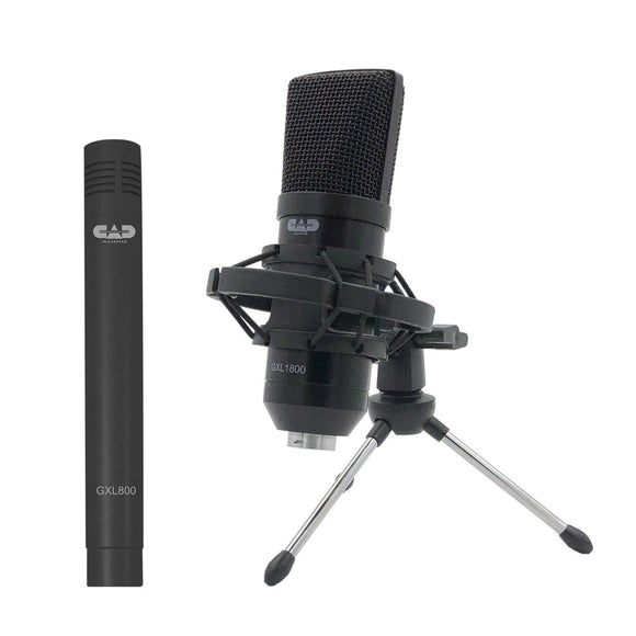 CAD Audio Studio Pack - Side Address Large Diaphragm Condenser & Small Diaphragm Pencil Condenser Microphones