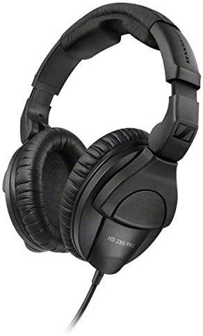 Sennheiser HD 280 Pro Closed Around the Ear Collapsible Pro Monitoring Headphones Black