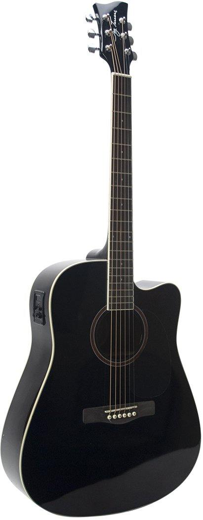 Jay Turser JTA524D-CE-BK Dreadnaught Cutaway Acoustic Electric Guitar