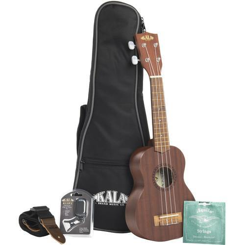 Kala Concert Ukulele Bundle with Bag Tuner Strap Strings KA-15C-BNDL