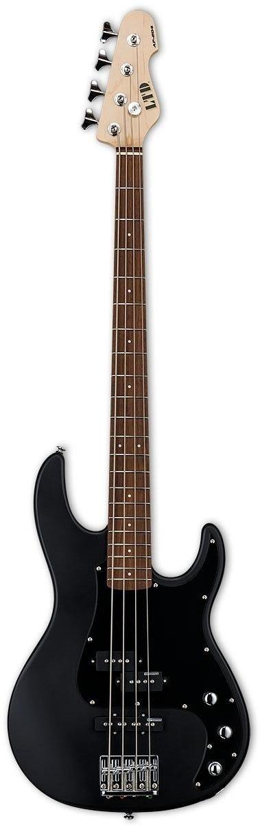 LTD AP-204 4-String Electric Bass, Black Satin