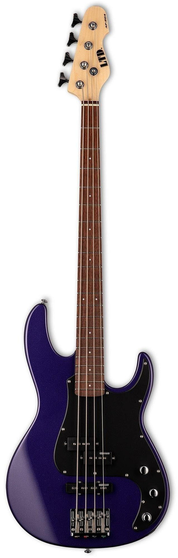 LTD LAP204DMP AP-204 4-String Electric Bass, Dark Metallic Purple