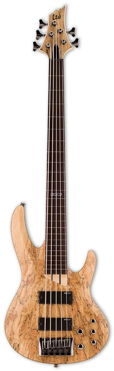 LTD B205 Fretless Bass, Natural Satin