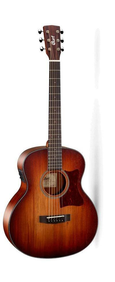 Cort Little CJ Acoustic Electric Guitar, Blackwood