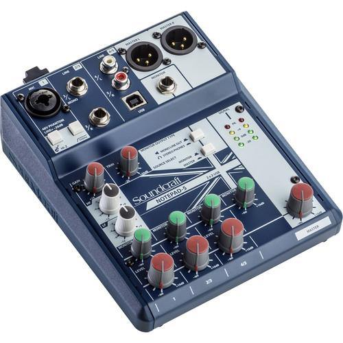 Soundcraft Small-Format Analog Mixing Console With Usb I/O