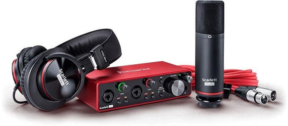Focusrite Scarlett Studio 2 In / 2 Out USB Recording Recording Bundle w/ Headphones and Condenser Microphone