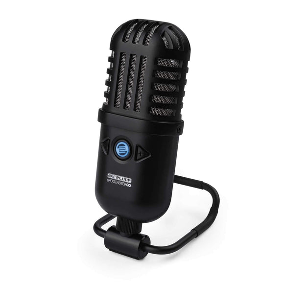 Reloop Retro-style Mobile Condenser USB Podcast Studio Microphone