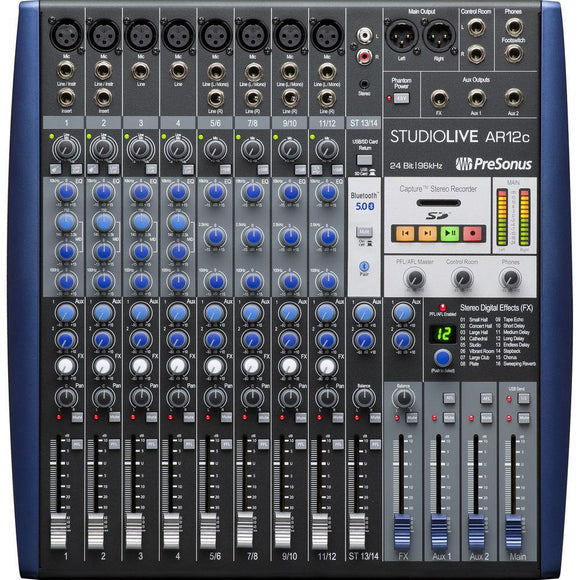 Presonus Studiolive AR12C USB-C 14-Channel Hybrid Performance and Recording Mixer