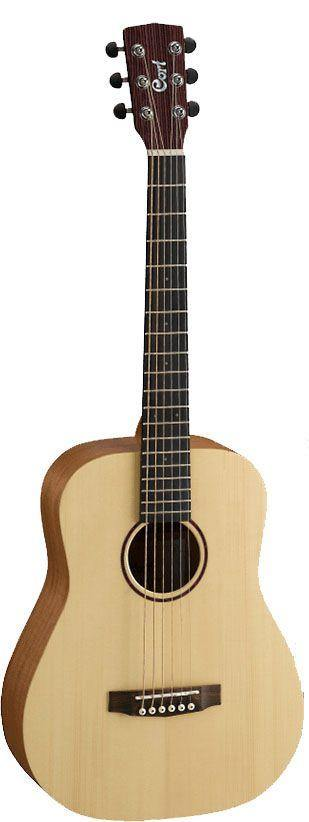 Cort 3/4 Earth Mini Solid Top Open Pore Acoustic Guitar With Gig Bag