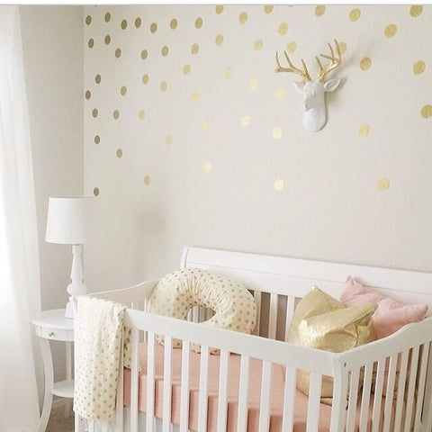 Dot Decals Turning Sad Emptiness Into Joyful Walls That Love You - Gold dot wall decals nursery