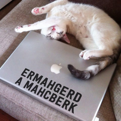 Ermahgerd, a Machberk! Funny Ermahgerd Macbook Decal