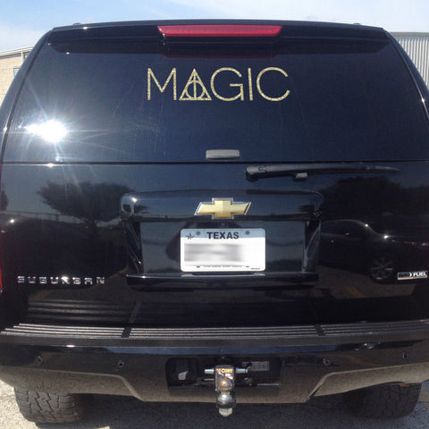 It's Magic! Understated Deathly Hallows Harry Potter Car Decal
