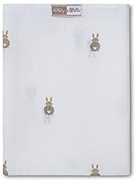 100% Cotton Muslin Square Bunny