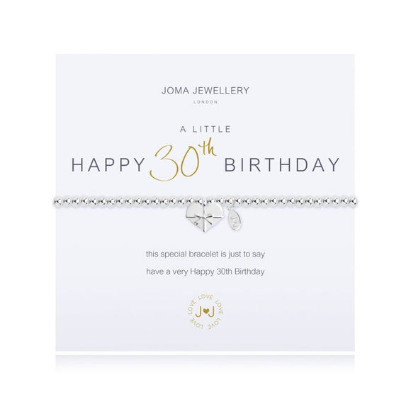 Joma Jewellery - A Little - Happy 30th Birthday