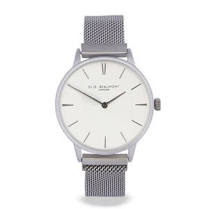 Holborn Silver/White Magnetic Watch