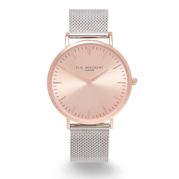 Oxford Large Mesh Two Tone Rose/Silver