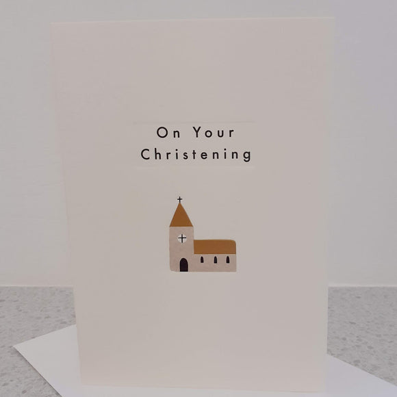 Christening Church Ingot Card
