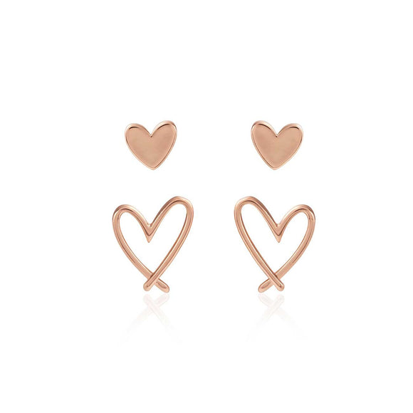 Joma Jewellery - Florrie Heart Stud Earrings