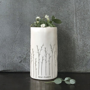 East of India - Porcelain Vase Flowers Small