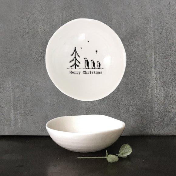 East of India Small wobbly bowl-Merry Christmas