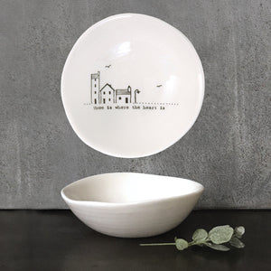 East of India - Medium Wobbly Bowl - Home Is Where Heart Is