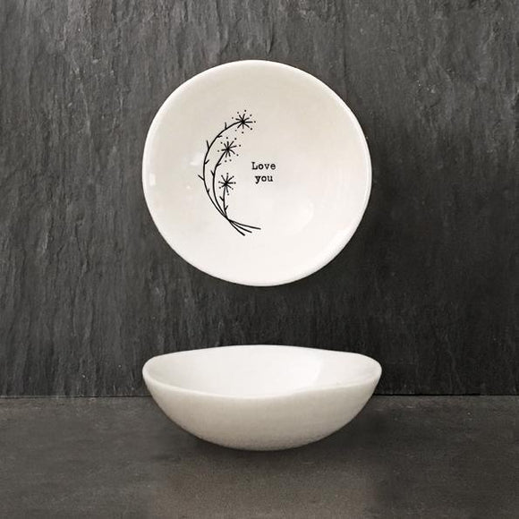 East of India Small Hedgerow Bowl - Love You