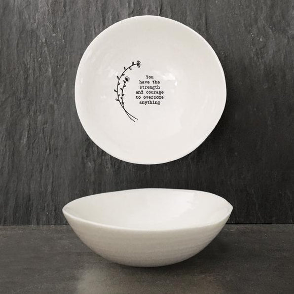 East of India Medium Hedgerow Bowl - Strength & Courage