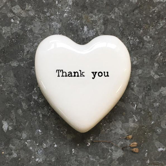 White heart token-Thank you