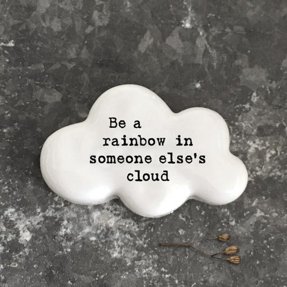 East of India White Ceramic Cloud - Be A Rainbow ...