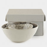 East of India - Set Of 3 Bowl s- Colour Wash & Dots