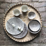 East of India - Rustic Plate  -Dimpled Spots