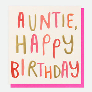 Auntie Happy Birthday