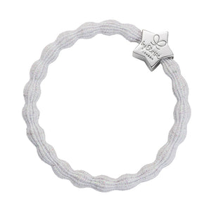 Hair Band Metallic Silver Star White