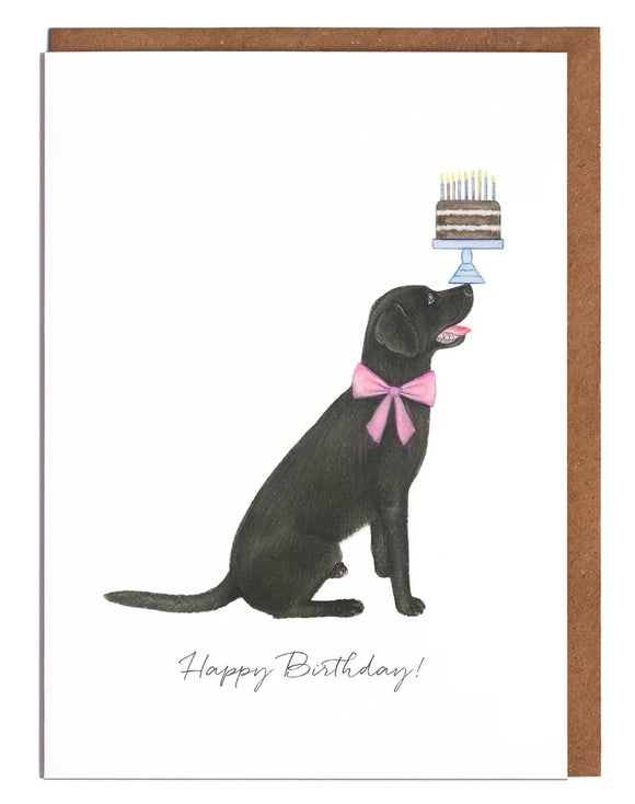 Black Labrador - Happy Birthday!
