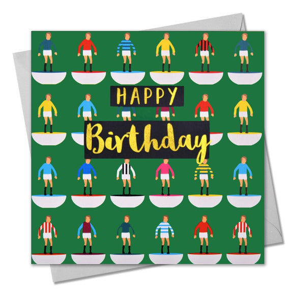 Birthday Card Footballers - Happy