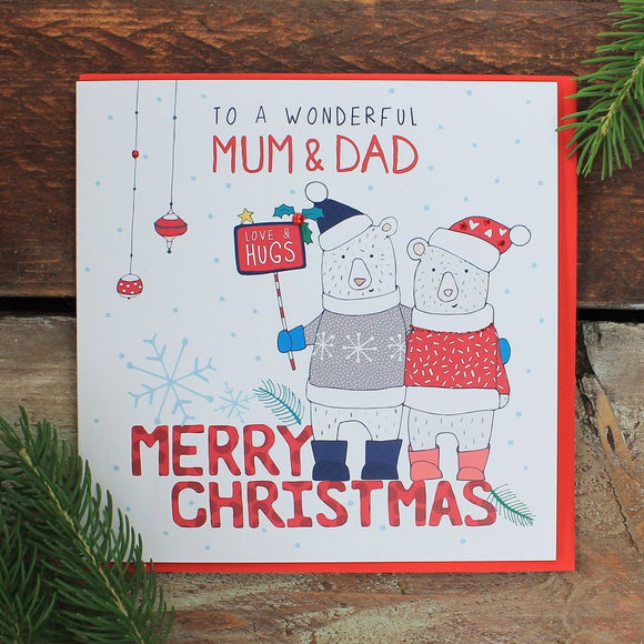 . To a Wonderful Mum And Dad - Merry Christmas