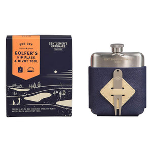 Gentlemen's Hardware - Golfers Hip Flask and Divot Tool Set