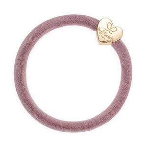 Gold Heart - Velvet Champagne Pink Hairband