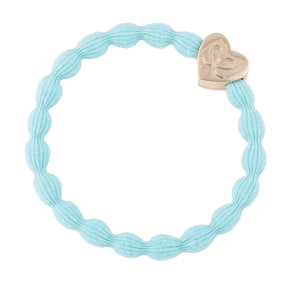 Gold Heart - Turquoise Hairband