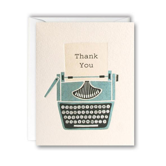 Typewriter Mini Thank You Pack of 5 Cards